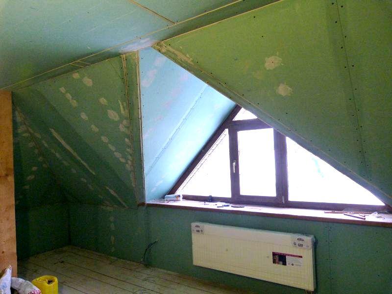 b Строительство Мансарды /b дома.  Фото.