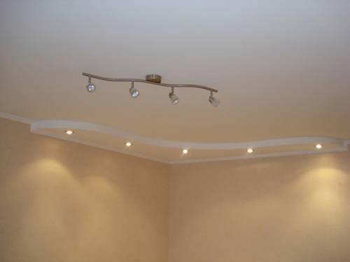 потолки из гипсокартона фото простые 12